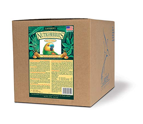 LAFEBER'S Tropical Fruit Nutri-Berries Pet Bird Food, Made with Non-GMO and Human-Grade Ingredients,...