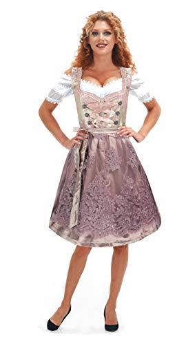 Alte Liebe 3tlg. Damen Dirndl MB376, Alt Rosa, 36