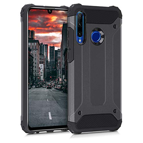 kwmobile Hülle kompatibel mit Huawei Honor 20 Lite - Hybrid Handy Cover Handyhülle Hülle Schutzhülle Transformer Anthrazit Schwarz