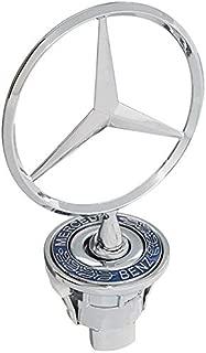 MERCEDES BENZ Front Star Bonnet Hood Badge Emblem Logo Spring Mounted - Blue