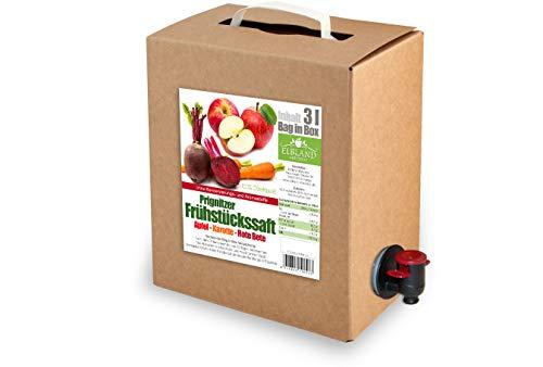 Apfel-Karotte-Rote Betesaft | 100% Direktsaft ohne Konservierungs- und Aromastoffe | 2er Pack (2 x 3 Liter, Bag in Box mit Zapfhahn)