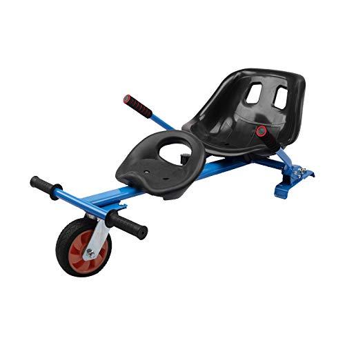 Sedile Hoverkart Kit Trasformazione per Go-Kart per Doppia Persona Accessori per Hovercart per Scooter Autobilanciato 6.5' 8' 10' Telaio Regolabile,Blu