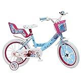 La Reine Des Neiges 2 - Vélo Enfant Fille La Reine des Neiges 2-16 Pouces (5/7 Ans) - Coloris Bleu/Rose - (Distributeur Officiel)