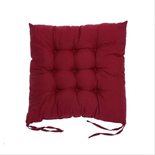 tonywu Microfiber Chair Pad Seat Cushion, Soft Comfortable Cotton Seat Cushion, Winter Office Bar Chair Cushion, Home Decor Throw Floor Cushions 55x55CM Burgundy