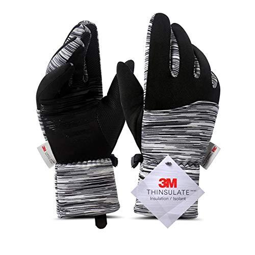 Invierno grueso ski cálido pantalla táctil hombres guantes correr mujeres thinsulate ciclismo terciopelo deportes al aire libre hembra montando guantes de camping ( Color : Black , Gloves Size : XL )
