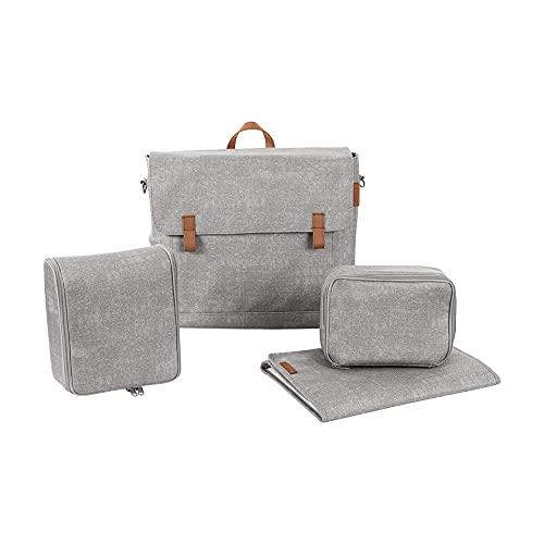 Maxi-Cosi Modern Bag, Praktische Wickeltasche mit Vielen Extras, Thermobox, Wickelunterlage, Thermobox, Kulturtasche, Baby-Tasche, Windel-Tasche, Nomad Grey (grau)