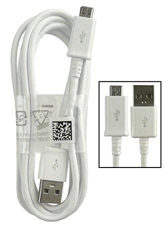 Samsung Câble USB véritable pour Samsung Galaxy S2S3S4S6S6Edge S7, A5(2016), J5J7et autres micro-ports Samsung (sans emballage au détail) Blanc EPDG925UWZ