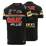 YAQA Navy Jaguar Native Home/Away - Camiseta de fútbol para hombre, manga corta, Negro, M/L