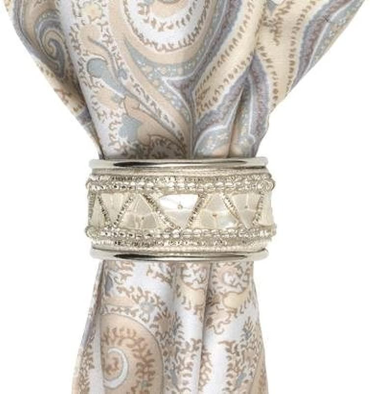 Juliska Napkin Ring Pearl Silver Mosaic