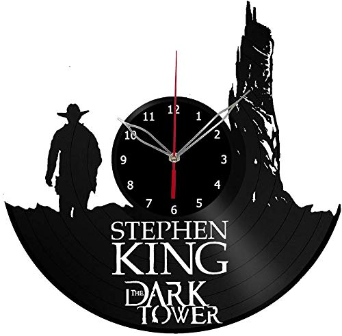 xiayanmei Stephen King The Dark Tower Vinyl Klok Record Wandklok Fan Art Decor Unieke Decoratieve Vinyl Klok 12 (30 cm)