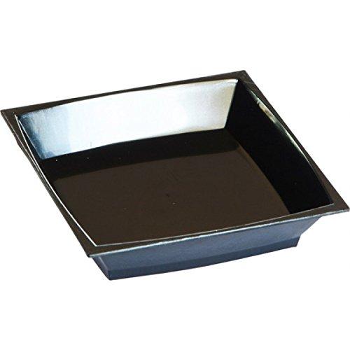 Duni 165198 Platen, kunststof, 67 mm Milaan, Zwart (Pak van 200)