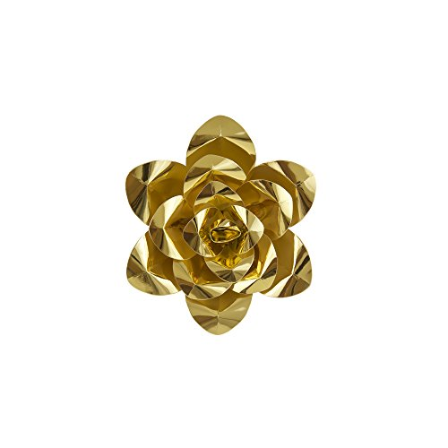 Mega Crafts 8 Inch Handmade Paper Flower in Metallic Gold, Home Décor, Wedding Bouquets & Receptions, Event Flower Planning, Table Centerpieces, Picture & Backdrop Wall Decoration, Garlands & Parties