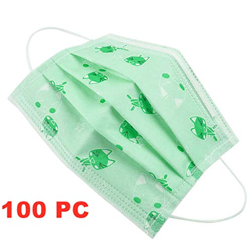 MaNMaNing Niños Protección 3 Capas Transpirables con Elástico para Los Oídos Pack 50/100 unidades 20200702-MaNMaN-A050/100 (100, Verde)