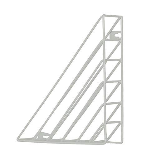 XHXseller Aan de muur bevestigde driehoekige hangende boekenkast, ijzeren structuur-praktisch aan de muur hangende boekenkast, metalen tijdschriftenhouder bestand