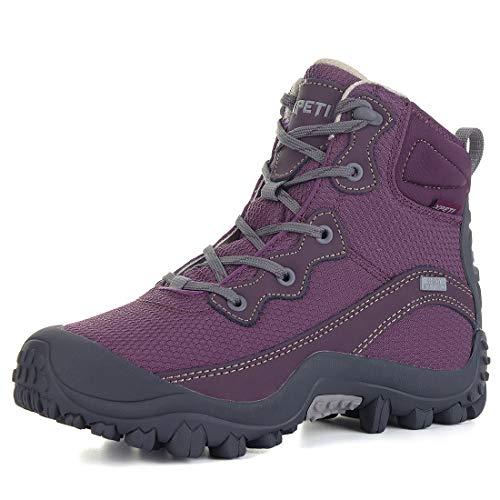 XPETI Women's Dimo Mid Waterproof Hiking Outdoor Boot (7 B(M) US, Purple)