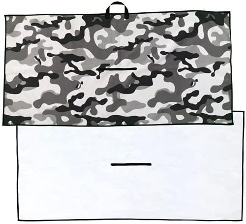 Zippa Golf Towel I Premium Large Golf Towel I Waffle Microfiber Golf Towels for Golf Bags for Men and Women I Golf...