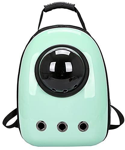 Mochila Portátil para Gatos Cápsula Espacial Astronauta Bolsa Transparente para Transporte De Gatitos Cachorros Accesorios para Gatos (Color : Green)