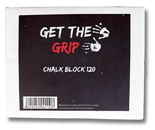 GET THE GRIP Magnesia/Chalk-Block 120 Gramm! Bestes Powder zum Klettern, Bouldern, für Krafttraining, Crossfit und Turnen