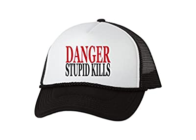 Rogue River Tactical Funny Trucker Hat Danger Stupid Kills Baseball Cap Retro Vintage Joke