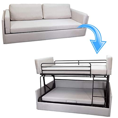 Platinum Furniture - Litera de sofá transformable en Tela Gris – sofá Plegable, Cama Doble