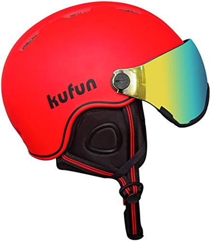 Visor Skihelm, Snowboard Helm voor volwassenen Unisex ABS EPS met Afneembaar Sneeuwmasker Anti-mist Anti-UV Goggle Winddicht Lichtgewicht
