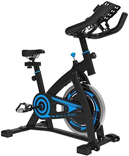 Indoor Cycling Heimtrainer, Verstellbarer Lenker Sitz Widerstand, Smart-APP Steuerung Elektromagnetische Spinning Bike for den Heimgebrauch mit Multifunktionshalterung mit tragbarem beweglichem Rad zh
