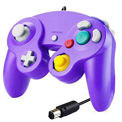 SANVIE Wired Gamecube NGC Controller für Nintendo Gamecube,Verkabelt Classic GC Game Cube NGC Controller Gamepad, kompatibel mit Wii U Switch PC Super Smash Bros (Lila)