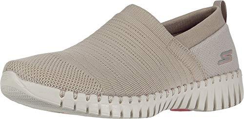Skechers Damen Go Walk Smart- Wise Sneaker, Grau (Taupe Textile/Trim TPE), 40 EU