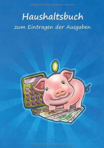 Haushaltsbuch zum Eintragen der Ausgaben: Einschreibbuch der fixen Kosten und variablen monatlichen Ausgaben für Paare – viel Platz zum Ausfüllen im Notizbuch 17x24cm – Motiv Taschenrechner