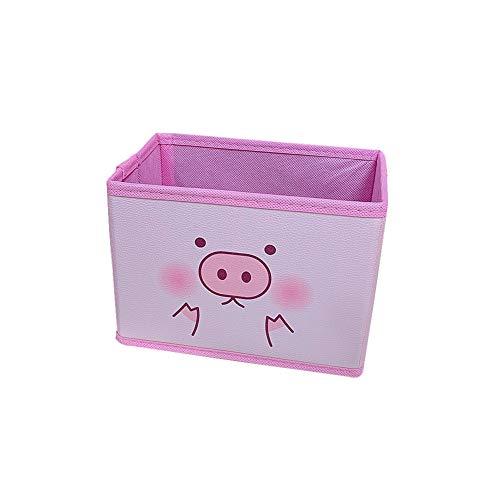 Weanty Rosa Aufbewahrungsbox mit Deckel Verschiedene Schwein-Muster Puppen, Spielzeug und Snacks 19cm*11cm*13.8cm Size 19cm*11cm*13.8cm (E)