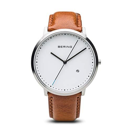 BERING Unisex-Armbanduhr Analog Quarz Leder 11139-504