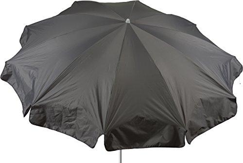 acamp Gartenschirm wasserabweisend Marktschirm Sonnenschirm 240 cm in grau Bespannung 100% Polyester wasserabweisend