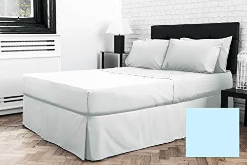Sábana bajera para cama doble pequeña de 4 pies x 6 pies 3 pulgadas (48 pulgadas x 75 pulgadas) (bajo colchón) (azul)