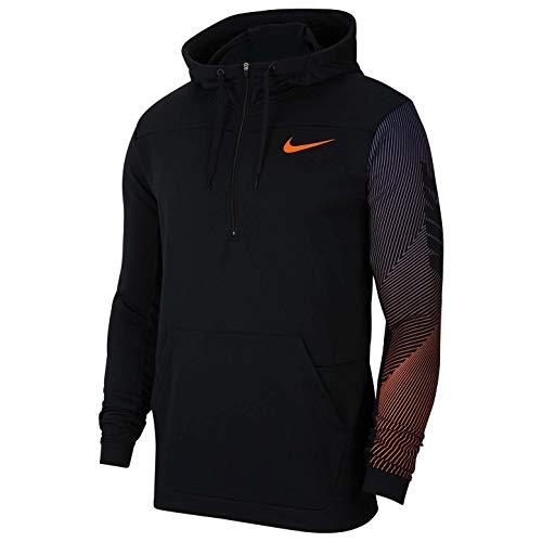 Nike Dri-fit Cj4429-010 - Sudadera con capucha para hombre (1/2 cremallera) - negro - XX-Large