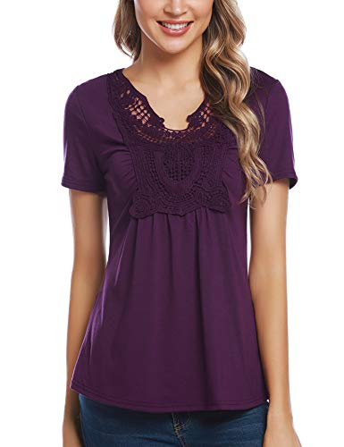 Lace Ruffle Front Top - 7
