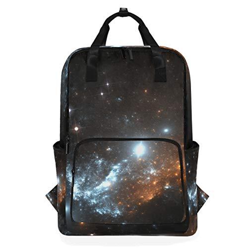 ZOMOY Rucksäcke,Supernova Explosionsnebel,Neue lässige Laptop leichte Tagesrucksack Leinwand College School Travel Umhängetasche Camping Klettern Wandern Taschen