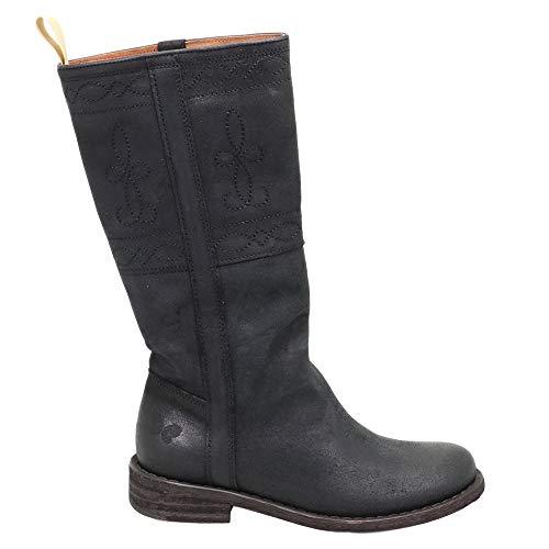 Felmini - Damen Schuhe - Verlieben GREDO C198 - Cowboy & Biker Stiefel - Echtes Leder - Schwarz - 39 EU Size