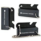 The Friendly Swede Magnesium Fire Starter - 3 Pack - Survival Fire Steel Blocks with Striker, Camping Emergency Equipment