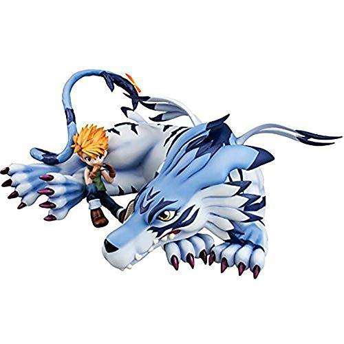 QAL Digimon Monster Garurumon Anime Figur Modell Statue Dekoration Sammler Boxed Kinderspielzeug 9.5CM