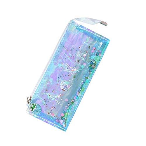 Estuche transparente con diseño de estrellas y bolsa transparente
