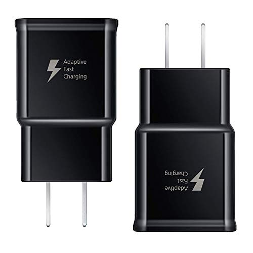 Adaptive Fast Charging Wall Charger Adapter Compatible Samsung Galaxy S10 S10 Plus S9 S9 Plus S8 S8 Plus S6 S7 Edge Plus Active, Note 10 9 8 5, LG G5 G6 G7 V20 V30 ThinQ Plus Quick Charge 3.0 [2-Pack]