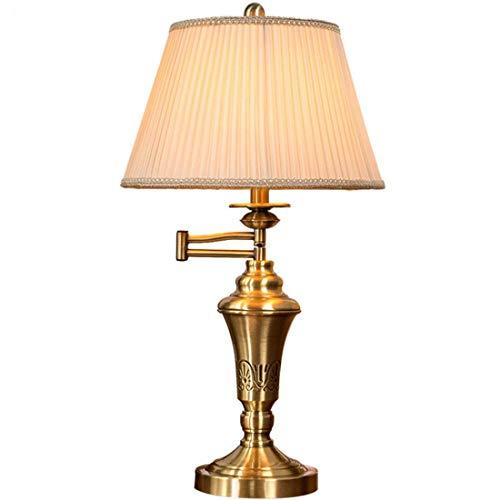 XFZ / Godess4 American Warm Continental Einfache Metall Kupfer Folding Lampe Rocker ARM LED-Licht Lesen Job Study Klavier Tischleuchte Nachttischlampe 356 * 615mm