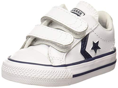 Converse Lifestyle Star Player 2V Ox, Zapatillas Unisex niño, Multicolor (White/Navy 111), 24 EU
