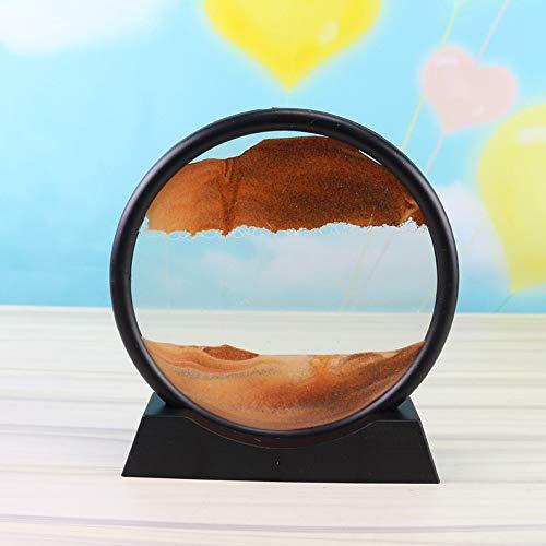 Leepesx Bewegend Zandbeeld, Vloeiend Zand Snelhedenen Schilderen Bewegend Zand Art Sandscapes Sculpturen Desktop Art Boekenplanken Decoratie 12/7 inch