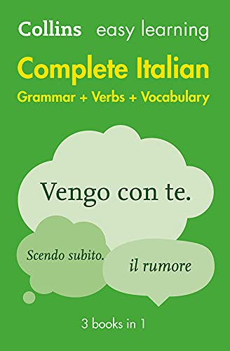 Easy Learning Italian Complete Grammar, Verbs and Vocabulary (3 books in...