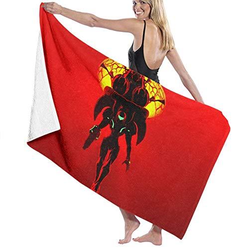 METROID - Toalla de baño para hombre y mujer, agradable al tacto, ideal para la playa, pícnic, tomar el sol, secado rápido, súper absorbente, viajes, gimnasio, camping, piscina, yoga, 80 cm x 130 cm