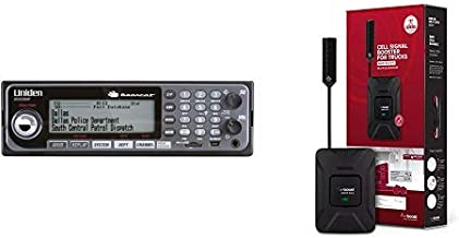 Uniden BCD536HP HomePatrol Series Digital Phase 2 Base/Mobile Scanner and weBoost Drive 4G-X OTR 470210 Cell Phone Signal Booster Trucker Kit Bundle