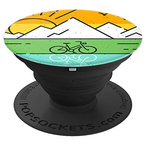 Retro Mountain Bike Gift for MTB Riders Vintage PopSockets Grip and Stand for Phones and Tablets