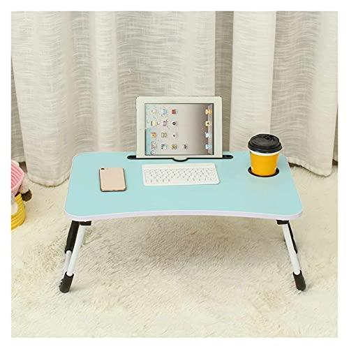 WSZMD Cama Pequeña Mesa Computadora Portátil Mesa Dormitorio con Escritorio Plegable Universidad Estudiante Dormitorio Cama Mesa Bandeja, Escritorio Computadora (Color : Blue)