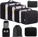 Eono by Amazon - 8 Teilige Kleidertaschen, Packing Cubes, Verpackungswürfel, Packtaschen Set für...